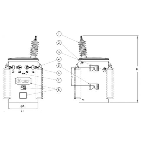 Máy biến áp AMORPHOUS 1 pha theo QĐ/62 EVN