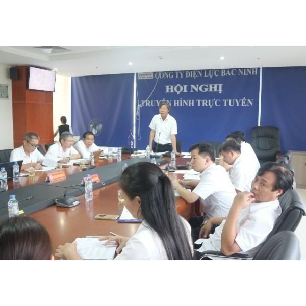 Lãnh đạo Tổng công ty Điện lực miền Bắc làm việc tại Công ty Điện lực Bắc Ninh về công tác quản lý vận hành và đầu tư xây dựng lưới điện khu vực tỉnh Bắc Ninh